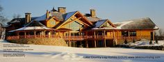 www.lakecountrylog.com Custom Handcrafted Post and Beam Log Cabin Home