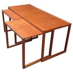 Set de 3 tables basses gigognes - années 50