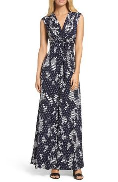 Free shipping and returns on Eliza J Jersey Maxi Dress (Regular & Petite) at Nordstrom.com. A waist-whittling twist sweeps into a tie back, making this graphic maxi crazy-flattering.