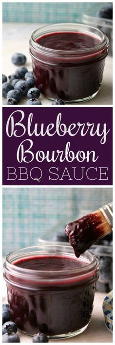 Blueberry Bourbon BBQ Sauce Pooks Pantry A sweet and spicy BBQ sauce made with fresh blueberries apple cider vinegar and bourbon Guaranteed to make your ribs sing Grilling Recipes, Cooking Recipes, Cooking Tips, Rub Recipes, Smoker Recipes, Milk Recipes, Cream Recipes, Salsa Dulce, Snacks Für Party