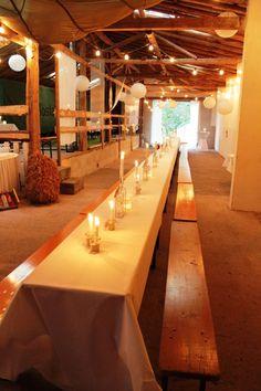 Long Table .... Langer Tisch  Hochzeit / Geburtstag Vintage / Scheune / See  Merkers Bostalhotel am Bostalsee im Saarland