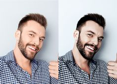 Profile Picture Before and After Photoshop