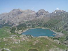 Col de l'Encombrette et lac d'Allos