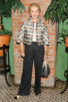 Carolina Herrera at the CFDA Fashion Awards nominee announcement party in New York.