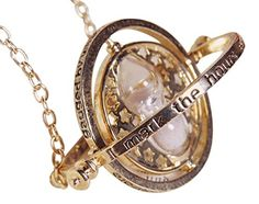 Harry Potter Time Turner Necklace Falcao Horcrux Movie Inspired Pendant With Red Velvet Gift Bag - The Ultimate Shopping Portal