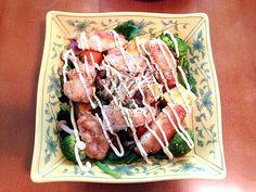 美味しいよ - 8件のもぐもぐ - 温野菜とフライドチキンコンビネーションサラダ by gamiy