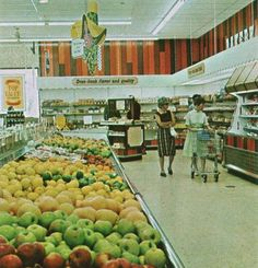 Kroger 1965 - I used to go to work with my Mom & Dad.  I spent a lot of my childhood in a Kroger store!  My Mom was a cashier and bookkeeper and my Dad worked in the produce dept.