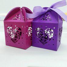 50 Pcs Amor Do Coração De Casamento Caixa de Doces Criativo Caixa de Chocolate Caixa De Presente de Corte A Laser Decoração de Casamento Suprimentos 7ZSH135(China (Mainland))