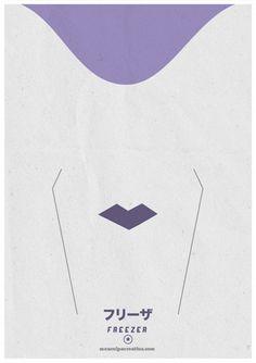 Minimal posters based on Dragon Ball | Design in OLDSKULL.NET