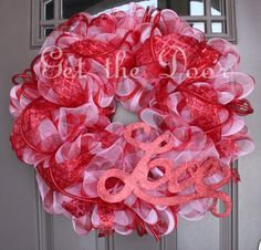Valentine's Wreath Mesh Valentine's Wreath Mesh by getthedoor, $50.00