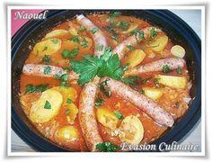 Potato Tagine with Merguez - Tajine de pommes de terre aux merguez - Evasion Culinaire