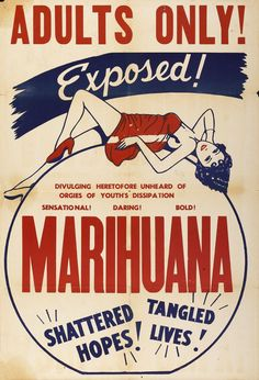 Vintage Marihuana Marijuana Adults Only Movie Propaganda Anti Drug Poster Retro Ads, Vintage Ads, Vintage Posters, Retro Food, Vintage Metal Signs, Old Advertisements, Advertising, Poster A3, Old Ads