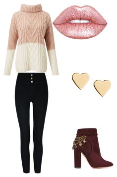 """""""Untitled #11"""" by faithxjones on Polyvore featuring Miss Selfridge, Aquazzura, Lipsy and Lime Crime"""