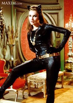 Julie Newmar as Catwoman.Though I am gonna catch some CRAP, Julie Newmar was a GOOD CatWoman, but I am sorry.Ertha Kitt had the purrr! Catwoman Cosplay, Cosplay Gatúbela, Batwoman Costume, Cosplay Ideas, Julie Newmar, Batman Tv Show, Batman Tv Series, Beatles, Original Catwoman