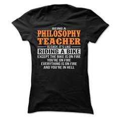 BEING A PHILOSOPHY TEACHER T SHIRTS - #gift for mom #housewarming gift. HURRY => https://www.sunfrog.com/Geek-Tech/BEING-A-PHILOSOPHY-TEACHER-T-SHIRTS-Ladies.html?68278