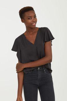 Bluzka z krótkim rękawem - Ciemnoszary - ONA | H&M PL 2