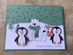 Boy Cards, Cute Cards, Homemade Christmas Cards, Homemade Cards, Christmas Greeting Cards, Holiday Cards, Stamping Up Cards, Winter Cards, Halloween Cards