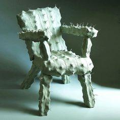 Cactus Chair maquette by ceramicist Jan Howlin, 2015 Unusual Furniture, Funky Furniture, Furniture Design, Western Furniture, Theme Design, Decoration Design, Cactus Decor, Cactus Cactus, Cacti