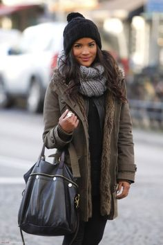 Oversized bulky sweater scarf when its cold out!.... is more than acceptable