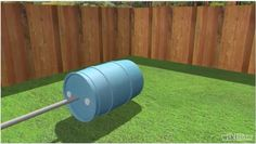 compostera-casera-insertar-eje Garden Hose, Outdoor, Ideas, Homemade, How To Make, Recycling, Healthy, Outdoors, Outdoor Living