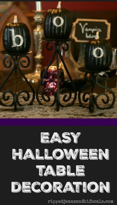 Cute and easy Halloween table decor • Ripped Jeans & Bifocals