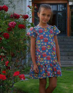 Vestido Sencillo, estampado Setas - La Princesa de Condor en Erizzos Marketplace de tiendas para niños de 0 a 14 años