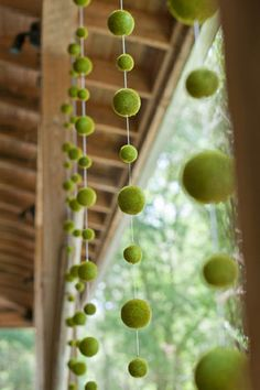 An Elegant moss ball curtain -