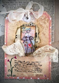 Tag Art ~ Elegant Lady Bea by Christine LeFever