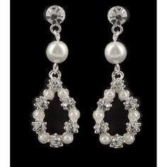 Brautschmuck Ohrhänger Perlen und Kristalle