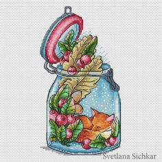 "Cross stitch design ""World in the jar"" #sa_stitch #sa_pattern #pattern"