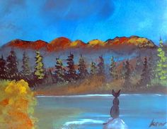 mountain view 20 x 16 original on canvas by KristaMayOriginals