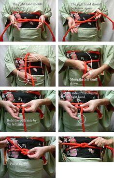 How to tie Obi jime - I Will Visit Japan - Google+