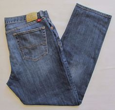Lucky Brand Jeans 40 34 429 Classic Straight Leg Mens Medium Blue Stretch Denim #LuckyBrand #ClassicStraightLeg