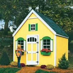 1000 images about backyard play on pinterest playhouse for Shed and playhouse combo plans