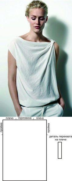 Camiseta asimétrica con patrón