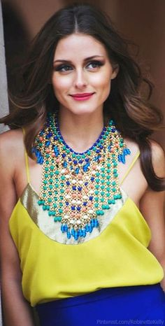 Olivia Palermo Street Style | Yellow and Blue
