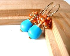 FREE shipping  NEW Algae  lovely earrings with  by anthology27, $37.95