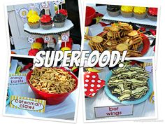 superhero food ideas and free printables