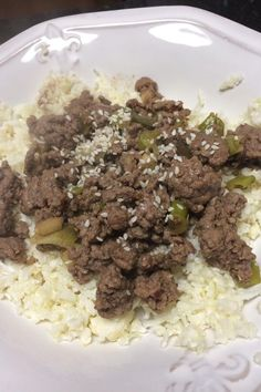 """Easy Keto Korean Beef with Cauli Rice 