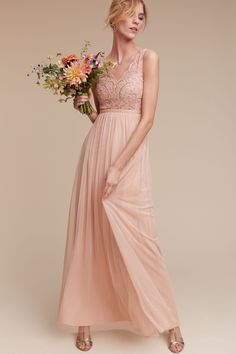 $120 Rose Quartz color on sale -- Orlene Dress from @BHLDN