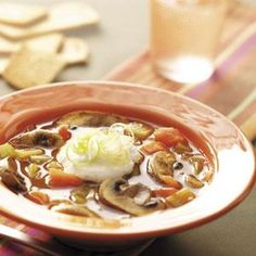 Delicous Soup Recipes ... Tomato Mushroom Soup Recipe from Taste of Home -- shared by Bonnie Hawkins of Elkhorn, Wisconsin