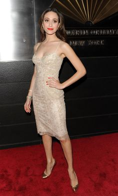 When she basically wore a slip and it looked better than real clothes ever could. | 23 Times Emmy Rossum Looked Absolutely Flawless