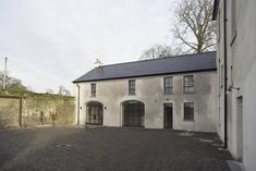 Restoration of country house and outbuildings in Tipperary, 2015 - Works included new roofing, extensive structural work, floor restoration, new. Floor Restoration, Stables, 18th Century, Gazebo, Cottage, Exterior, Outdoor Structures, House Design, Windows