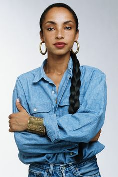 Sade Adu knew a good double denim back in the 80s