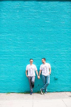 brooklyn chic gay engagement session