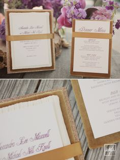 sparkle and gold layered wedding invitation