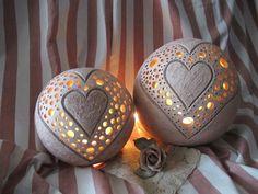 Leuchkugel Herz aus Keramik                                                                                                                                                                                 Mehr