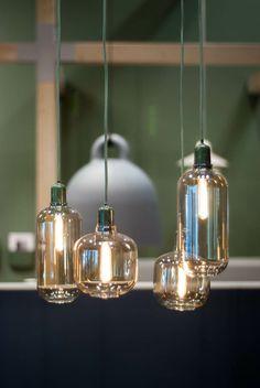 Normann Copenhagen Amp Pendant Lamp Suspension chambre d'amis ( tête de lit) à poser avec potence