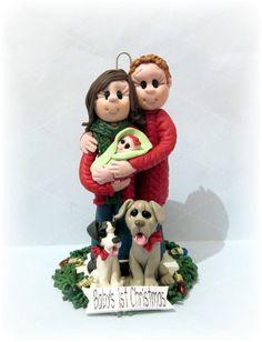 2013 Custom Family Christmas Ornament by lynnslittlecreations, $55.00