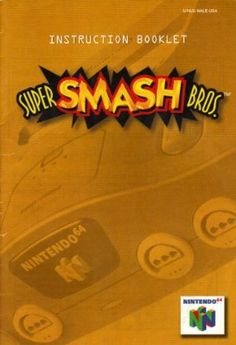 Amazon.com: Super Smash Bros N64 Instruction Booklet (Nintendo 64 Manual Only) (Nintendo 64 Manual): Nintendo